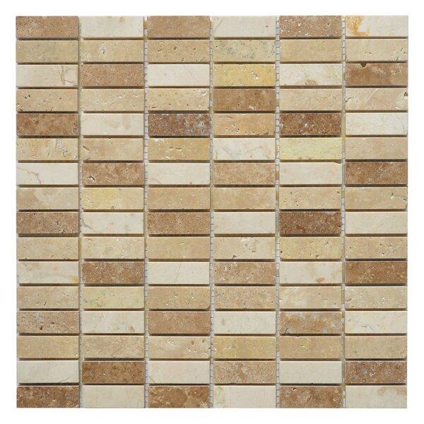Nevada Loaf 0.63 x 2 Marble Mosaic Tile in Yellow/Brown by Matrix Stone USA