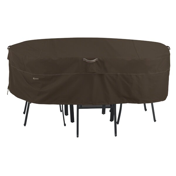 Madrona Rain Proof Rectangular/Oval Patio Dining Set Cover by Classic Accessories