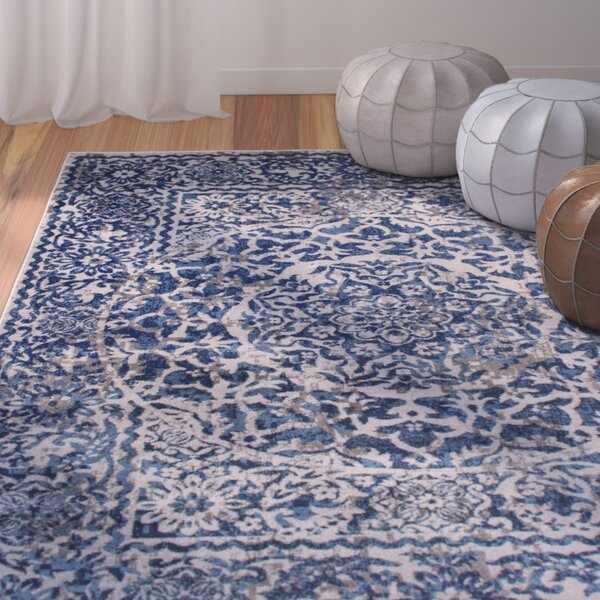 Rosie Gray/Blue Southwestern Area Rug by Bungalow Rose