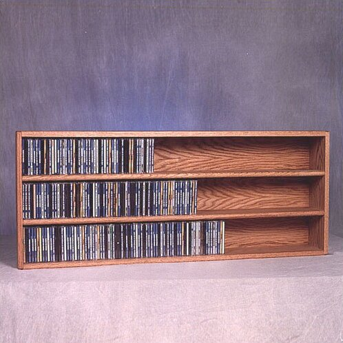 300 Series 354 CD Wall Mounted Multimedia Storage Rack by Wood Shed