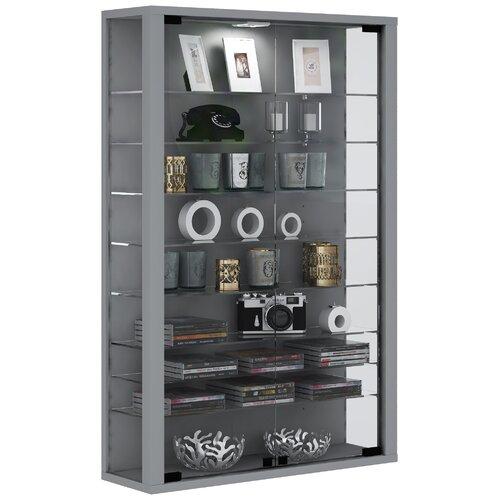 Vitrine Berry Hill Marlow Home Co. Farbe: Silber| Eigenschaften: Mit LED-Beleuchtung | Wohnzimmer > Vitrinen > Standvitrinen | Marlow Home Co.