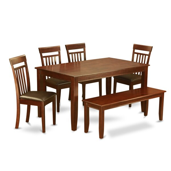 Dudley 6 Piece Dining Set by Wooden Importers