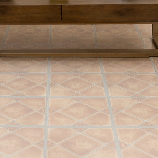 Tivoli Clay Diamond with Accents 12 x 12 x 1.2mm Luxury Vinyl Tile in Beige by Achim Importing Co