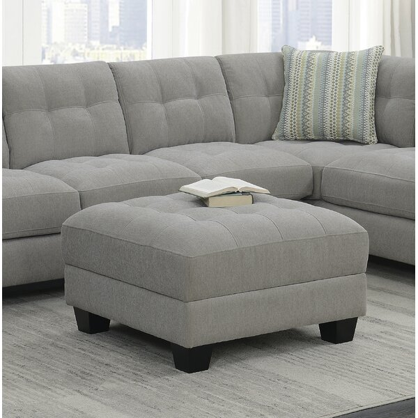 Canndale Dove Tufted Storage Ottoman by Ebern Designs