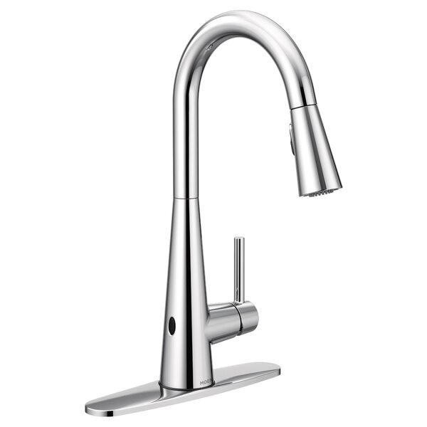 Sleek Pull Down Touchless Single Handle Kitchen Faucet with Reflex™ and Power Clean™ by Moen