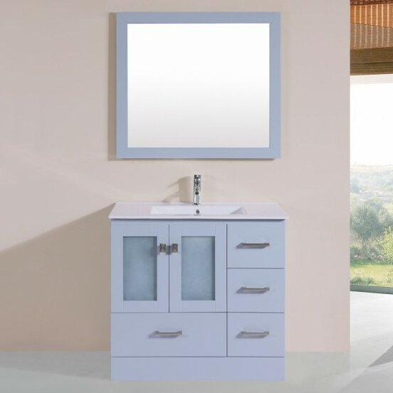 Lapoint Modern 35 Single Bathroom Vanity Set with Mirror by Latitude Run