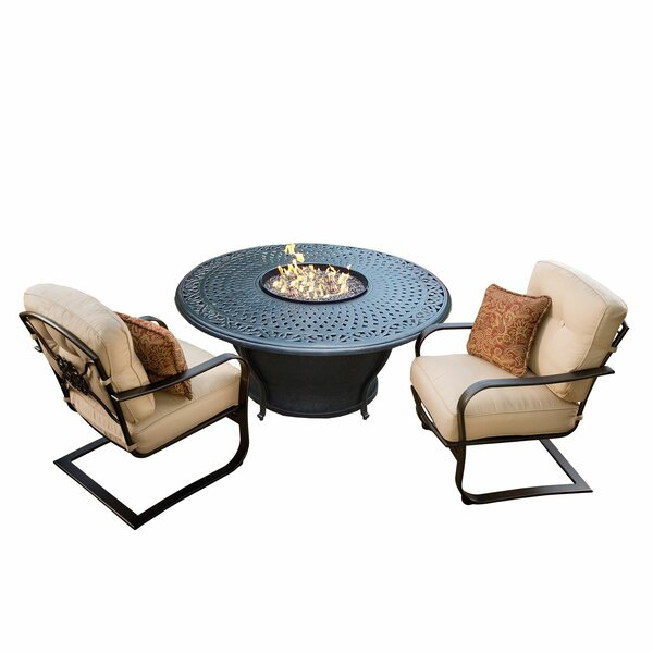 Owego 3 Piece Conversation Set with Cushions by Darby Home Co