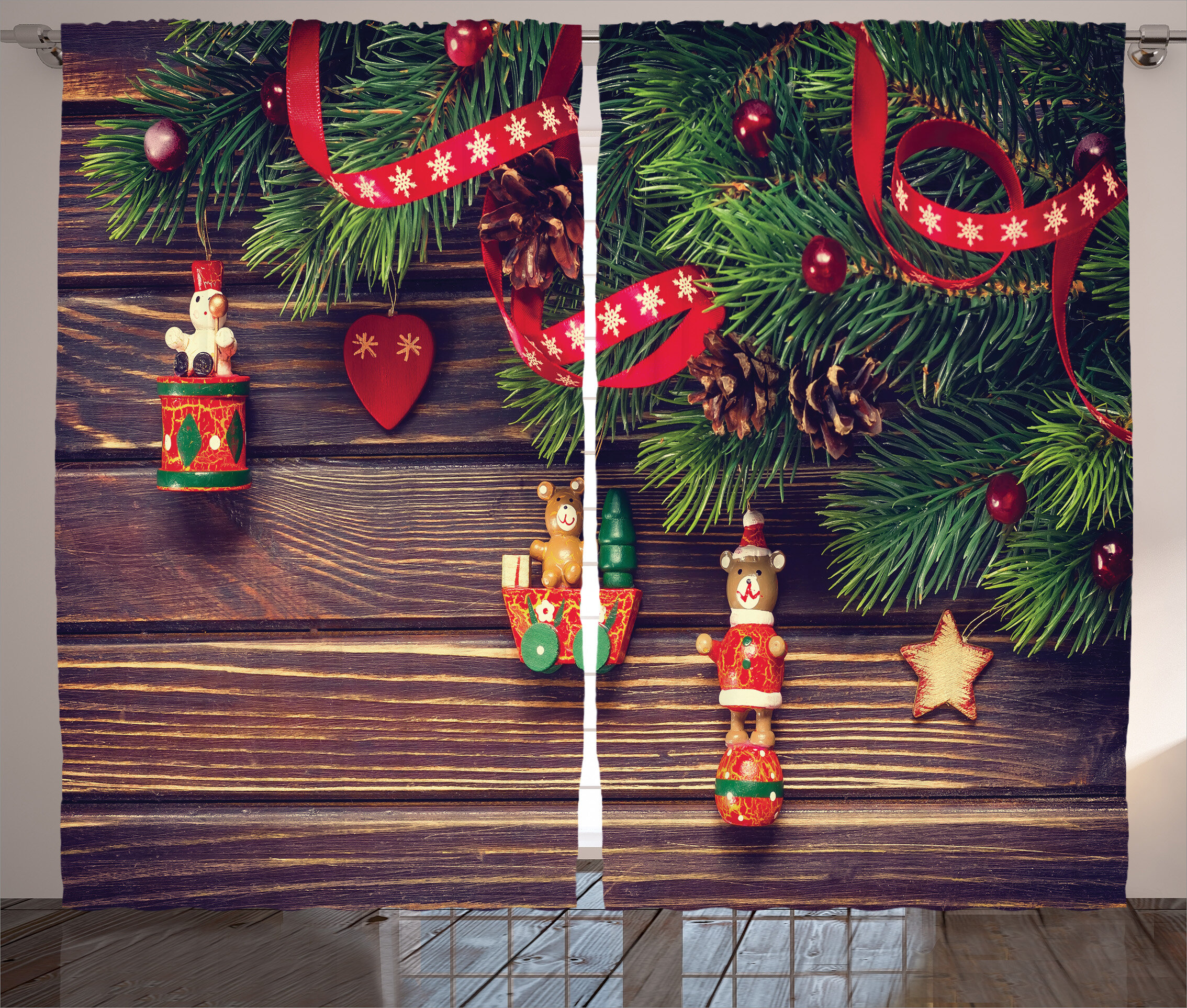 The Holiday Aisle Christmas Decorations Rustic Wood Backdrop ...