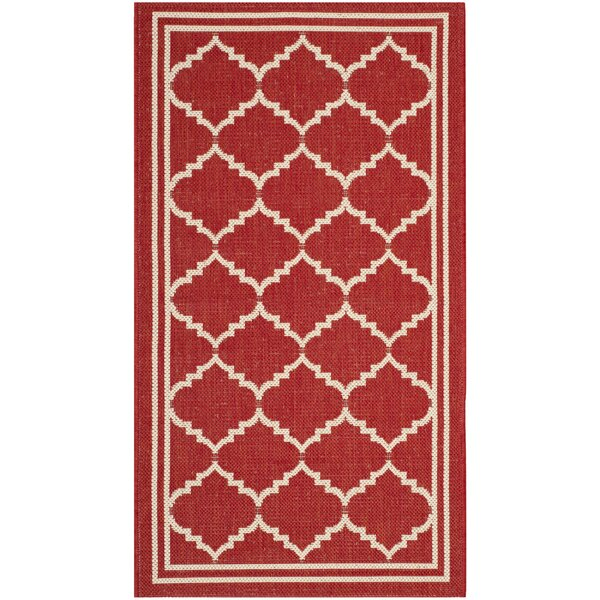 Herefordshire Red/Beige Indoor/Outdoor Area Rug by Winston Porter