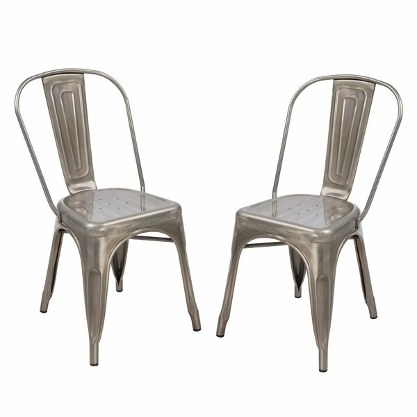 Stacking Patio Dining Chair (Set of 2) by Homebeez