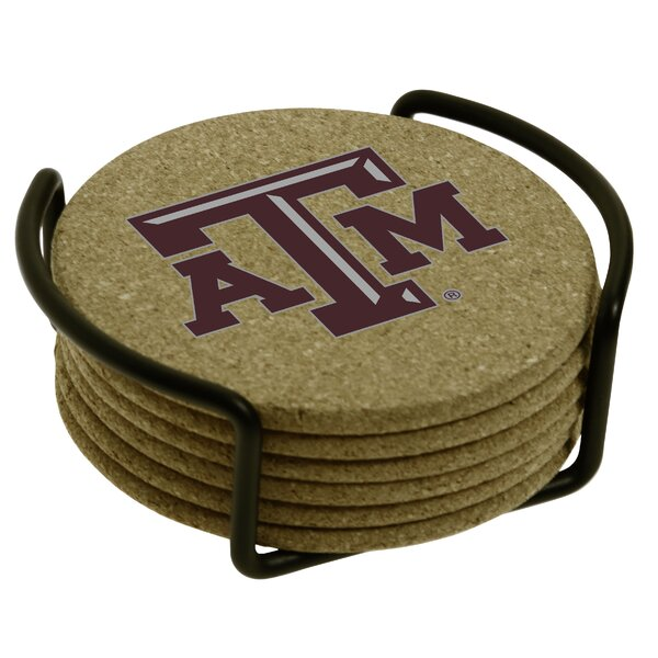7 Piece Texas A & M University Cork Collegiate Coaster Gift Set by Thirstystone