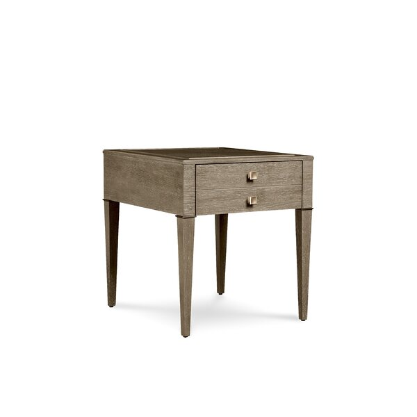 Albright 2 Drawer End Table by Everly Quinn Everly Quinn