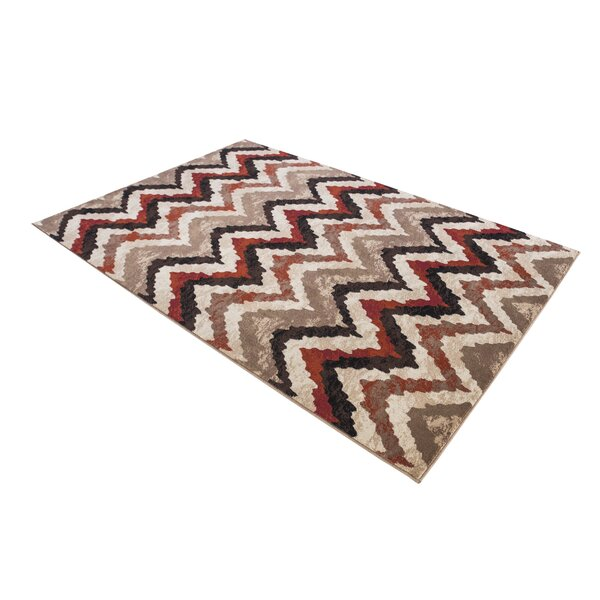 Elyse Brown/Black Area Rug by World Menagerie