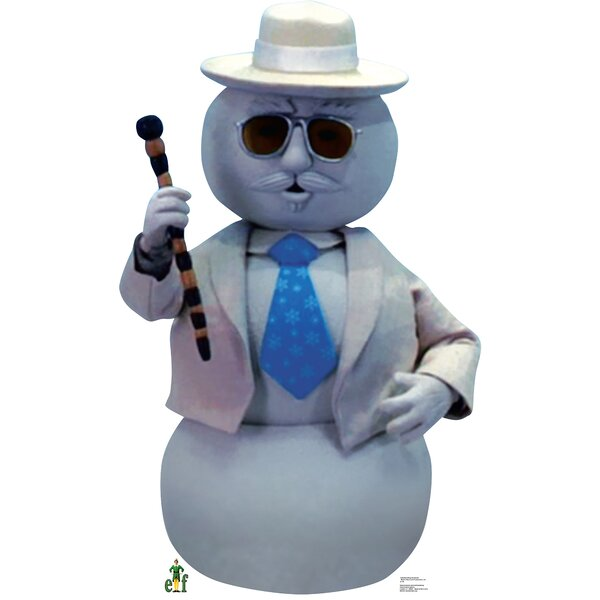 Elf Narrating Snowman Cardboard Standup by Advanced Graphics