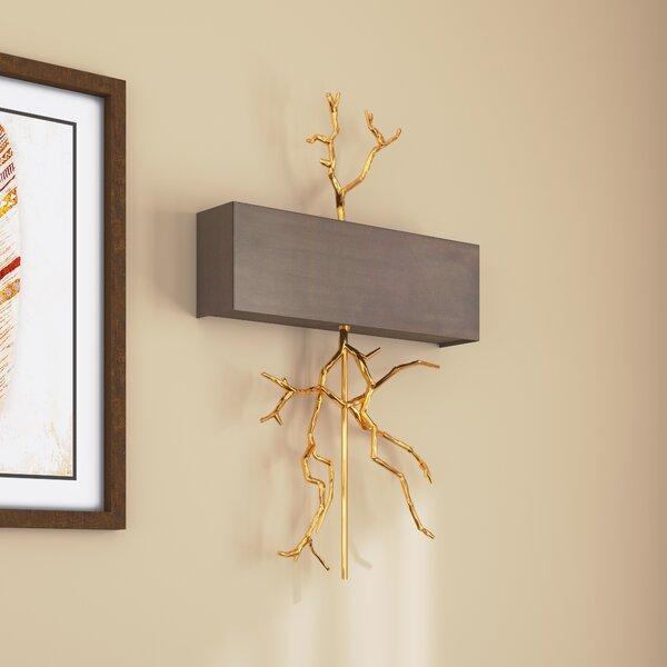 Wyatt 2-Light Wall Sconce by Loon Peak
