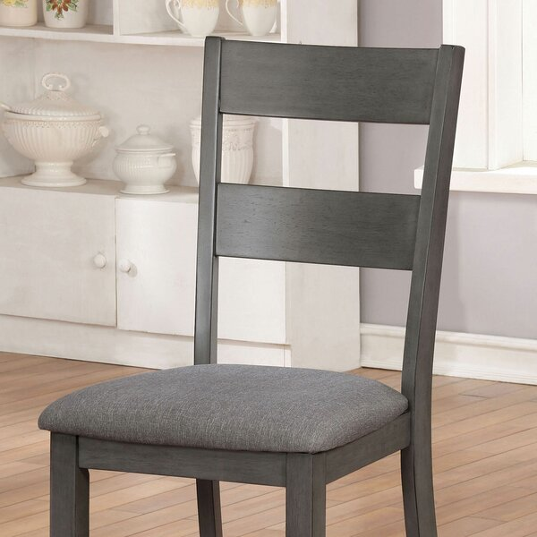 Hudspeth Upholstered Ladder Back Side Chair (Set of 2) by Red Barrel Studio Red Barrel Studio
