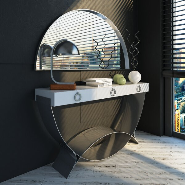 Canyon Console Table And Mirror Set By Orren Ellis