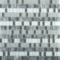 Unique 12 x 12 Glass and Stone Blend Mosaic Tile in Epic by Emser Tile