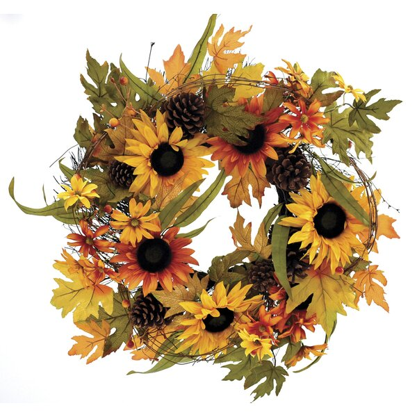 Fall 26 Sunflower Wreath by The Holiday Aisle