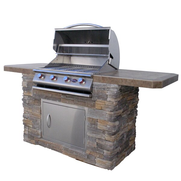 Bistro 4-Burner Built-In Propane Gas Grill by Cal Flame