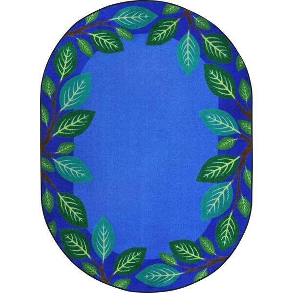 Allred Breezy Branches Blue Area Rug by Zoomie Kids