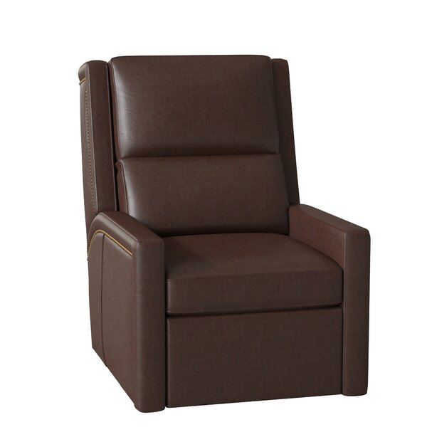Norman Leather Wall Hugger Recliner by Bradington-Young Bradington-Young
