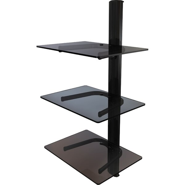 Triple Shelf Wall Mount System with Cable Management by Crimson AV