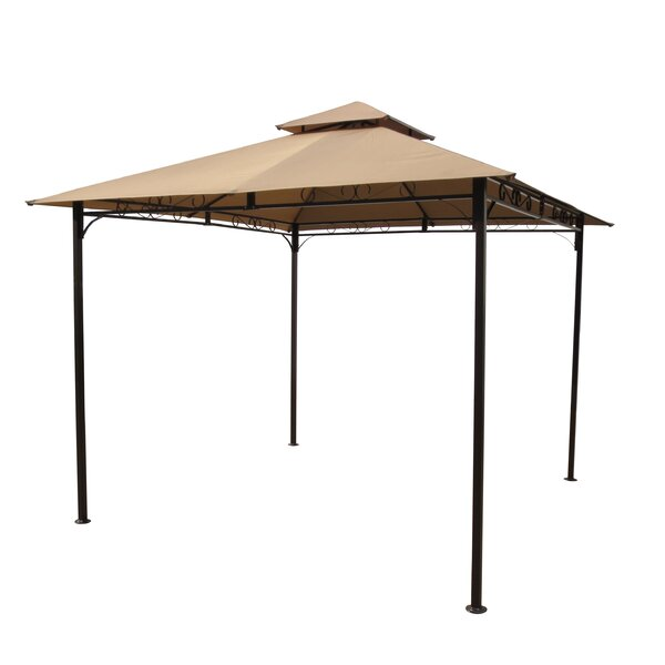 St. Kitts 9.6 Ft. W x 9.6 Ft. D Steel Patio Gazebo by International Caravan