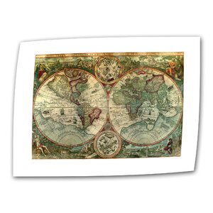 Antique Maps 'Treasure Map' Graphic Art on Rolled Canvas by ArtWall