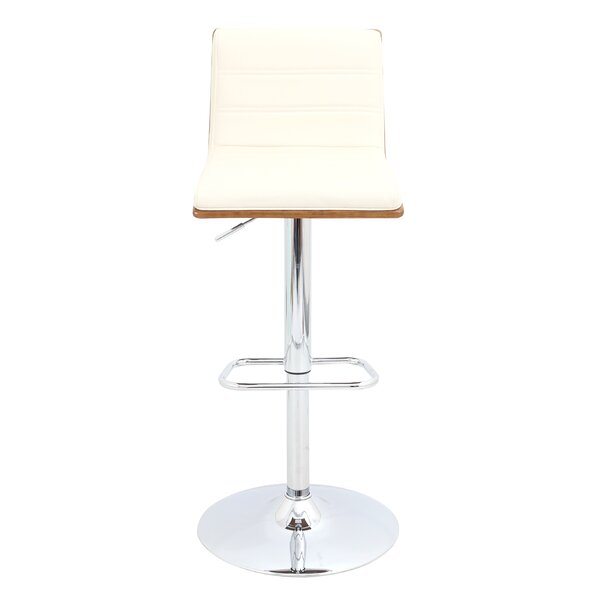Vasari Adjustable Height Swivel Bar Stool by LumiSource