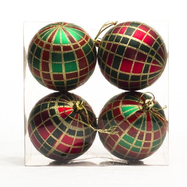 Polypropylene Plaid Ornament (Set of 4) by Three Posts