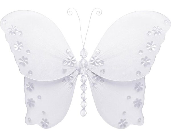 Kristopher Butterfly Hanging Twinkle Nylon 3D Wall Décor by Harriet Bee