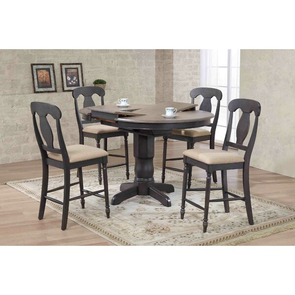 Napoleon Back Counter Height 5 Piece Pub Table Set by Iconic Furniture