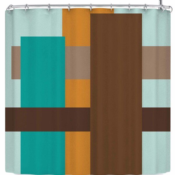 Bruxamagica Abstract Shower Curtain by East Urban Home