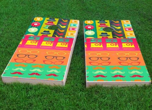 Hipster Cornhole Game (Set of 2) by Custom Cornhole Boards