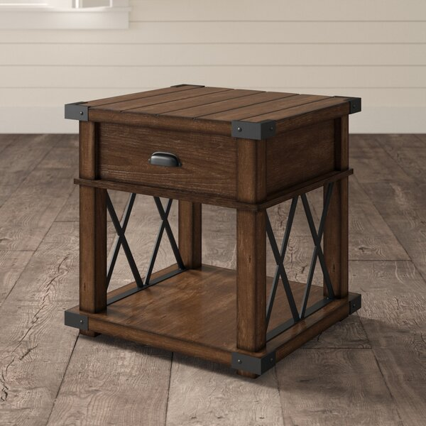 Bridget End Table with Storage by Birch Lane Heritage Birch Lane™ Heritage
