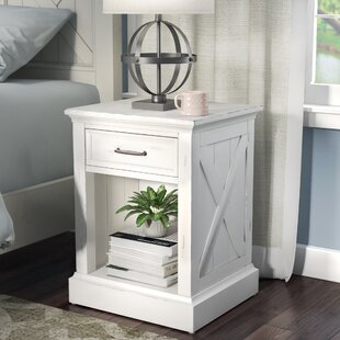 Compare prices Ryles 1 Drawer Nightstand by Laurel Foundry Modern Farmhouse