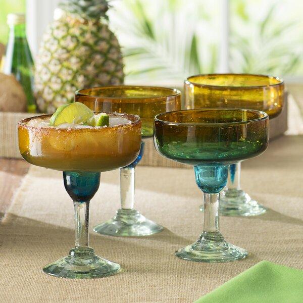 Eilidh Margarita Glass (Set of 4) by Beachcrest Home