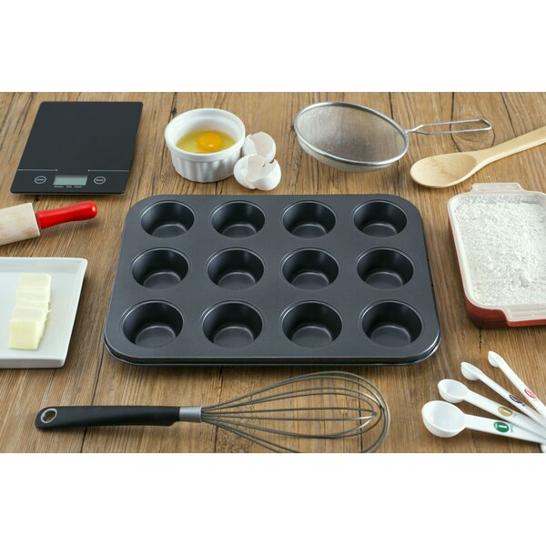 12 Cup Non-Stick Muffin Pan (Set of 12) by Home Basics