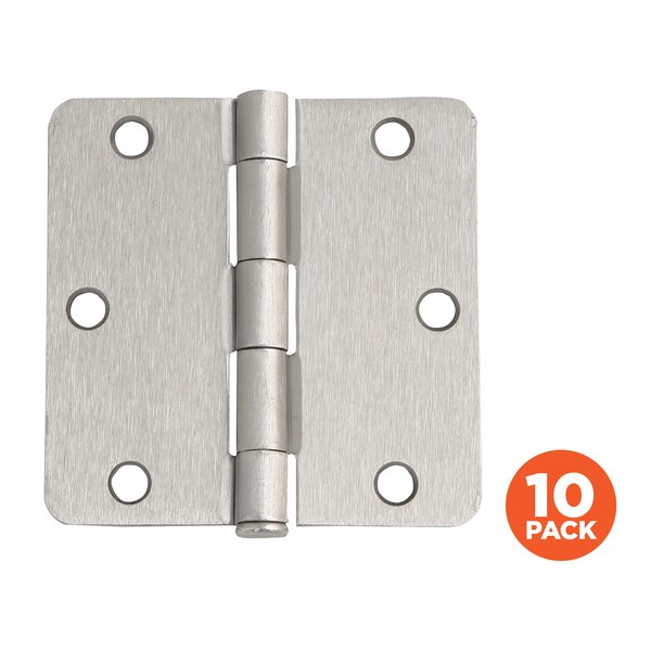 3.5 H x 3.5 W Butt/Ball Bearing Pair Door Hinges (Set of 10) by Design House