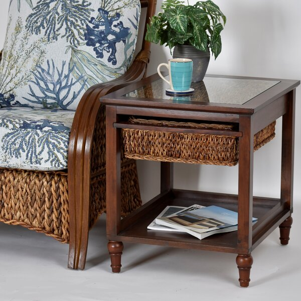 Evert Basket End Table By Bay Isle Home