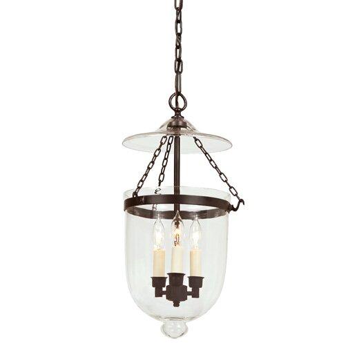 Jvi designs 3 light medium bell jar foyer pendant reviews wayfair 3 light medium bell jar foyer pendant aloadofball Choice Image