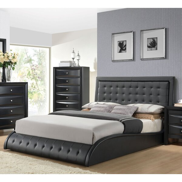 Djibril Upholstered Platform Bed by Brayden Studio