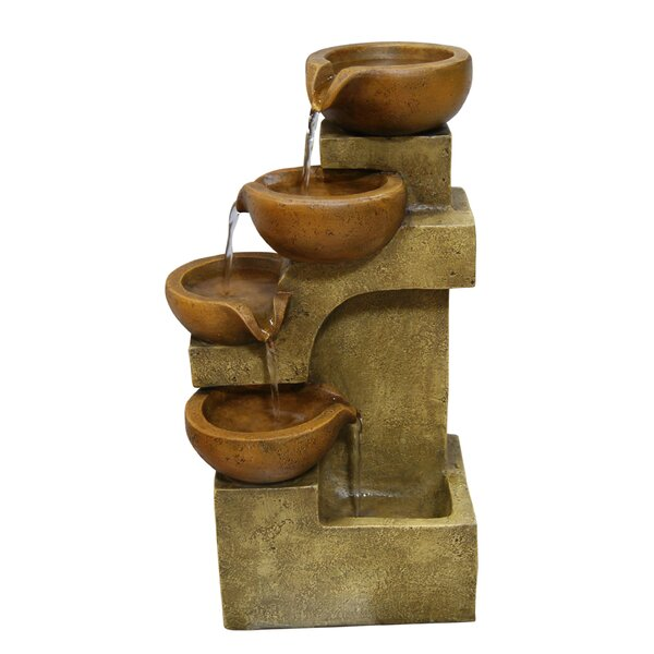 Polyresin Tiered Pot Fountain by Woodland Imports