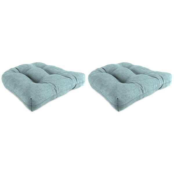 Set of 2 Indoor/Outdoor Wicker Chair Cushions (Set of 2) by Winston Porter