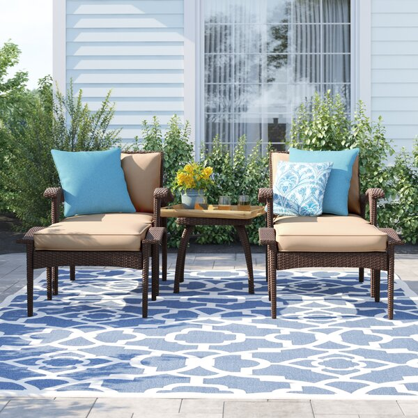 Beacon 5 Piece Seating Group with Cushions Sol 72 Outdoor W000940324