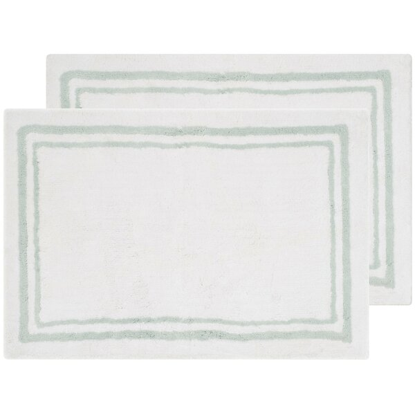 Plush Master Rectangle Striped Bath Rug (Set of 2)