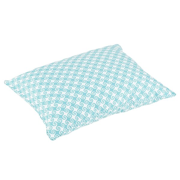 Estelle Piped Edge Indoor/Outdoor Floor Pillow by Bayou Breeze