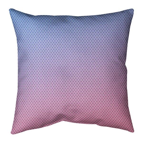 Avicia Mermaid Scales Indoor/Outdoor Throw Pillow