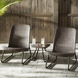 Stickel 3 Piece Rattan Seating Group by Mercury Row